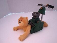 BAD TASTE BEAR #65 MOE PETE UNDERHILL LAWNMOWER. RETIRED. RESIN FIGURINE