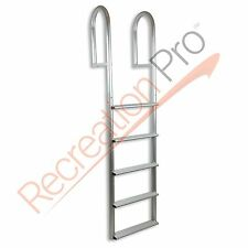 "ADL-A5W 5 STEP STATIONARY STRAIGHT DOCK BOAT LADDER 20"" WIDE 500 LB CAPACITY"