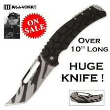 Mikkel Willumsen Blondie Tactical Framelock Fighting Knife Serrated Urban Camo