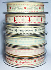 1m Berisfords 15mm Christmas Printed Ribbon Choice Designs For Card Making Craft