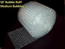 "50 Foot Medium Bubble® Wrap Roll! 5/16"" Bubbles! 12"" Wide!  Perforated Every 12"""