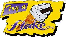 99 Try a Flake Ice Cream Van Large Sticker, Bonnet, Door, Catering, Cafe Decal