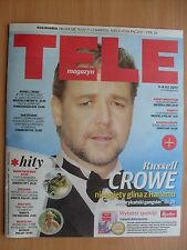 RUSSELL CROWE on front cover Polish Magazine TELE MAGAZYN 5/2017