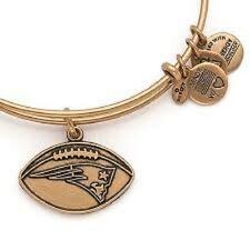 Alex and Ani New England Patriots Gold Expandable Wire Bangle Bracelet