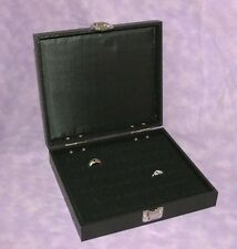 TRAVELING WOOD RING TRAY WITH HINGED LID 36 INSERT