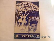 PARTITION DE L'AMOUR DU BONHEUR DU CIEL BLEU PAR MARIE JOSE MUSIQUE RANCUREL H57