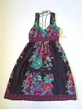 NWT 100% Silk Dress Anthropologie Size 2 Plenty by Tracy Reese Purple Floral