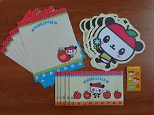 "NEW! SANRIO ""PANDAPPLE"" STATIONARY SET"" PANDA LETTER PAPER, ENVELOPES, STICKERS"