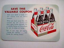 Vintage Coca-Cola Coupon w/ Picture of 6-Bottle Carton On It *