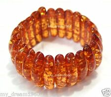New Genuine Baltic Tibet Amber Beeswax Stretchy Bracelet Fashion Jewelry