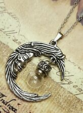 Moon Pendant with Fillable Orb | Moon Necklace | Moon Urn | Urn Jewelry |