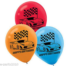 HOT WHEELS Wild Racer LATEX BALLOONS (6) ~ Birthday Party Supplies Decorations
