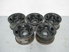 "Set of 5 Nissan Patrol GU Black Wheel Rims 6 Stud 16"" X 8"""