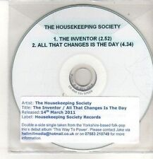 (CO63) The Housekeeping Society, The Inventor - 2011 DJ CD