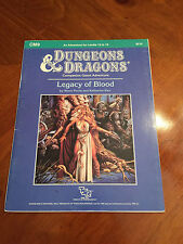 D&D - CM9 Legacy Of Blood - Dungeons And Dragons - TSR - 9210
