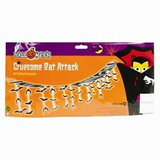 3m Gruesome Bat Attack Ceiling Garland Halloween Bunting Decoration 42 Bats