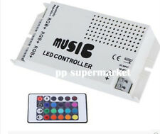 3 Channels Music 24Key Remote DC 12V Smart IR Controller for RGB LED Strip Light
