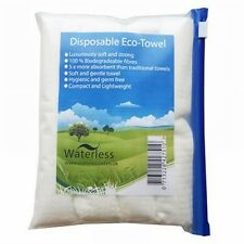Nilaqua Waterless  Disposable Eco Towels - Pack of 4 Biodegradable Travel Towels