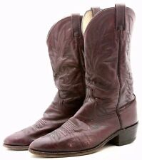 Dan Post Mens Cowboy Boots Size 10 EW Wide Red Leather Western USA Vintage