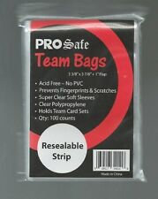 100 PRO SAFE RESEALABLE TEAM BAGS 1 pk of 100