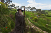 GANDALF IN HOBBITON LORD OF THE RINGS Giant Poster Print GIH01 A0 A1,A2,A3,A4