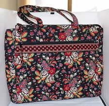 "Vera Bradley Large Tote Brief Case Bag 16"" x 3"" x 12 1/2"" Anastasia Retired EUC"
