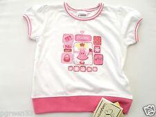 Bébé Filles Princesse tshirt top 3-6 mois blanc & rose par Coccinelle