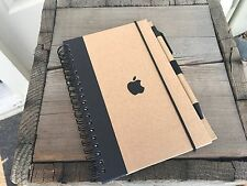 NEW - Genuine Apple Logo Notebook with Pen - Black - Apple Store - Recycled