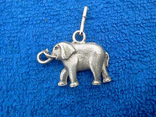 ZOO ANIMAL 1 NICE ELEPHANT 3D PEWTER ZIPPER PULL or PENDANT All New.