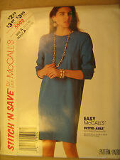 UNCUT Pattern 1992 EASY McCall SIZE 10 12 14 Misses Dress 5502 [Z25]