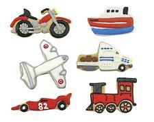 Fox Run 6 Piece Transportation Cookie Cutter Set - Train Plane Race Car Truck ++