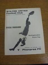 02/10/1976 Stilton United v Phorpres [Huntingdonshire Senior Cup] (4 Pages, slig