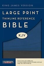 Large Print Thinline Reference Bible-KJV (2011, Imitation Leather, Large Type)