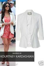 Womens Ladies Celeb Inspired Tailored Fitted Blazer Ladies Jacket Top UK 8-16***