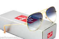 Ray-Ban Aviator Gold Frame Light Blue Gradient Sunglasses RB3025 001/3F 58mm