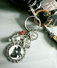 Beauty and the Beast Charm Necklace or keyring Belle Disney inspired jewellery