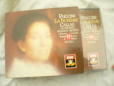 DOUBLE CD PUCCINI LA BOHEME CALLAS + outer sleeve thick booklet  n/m at least