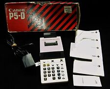 Vintage CANON P5-D Printing Calculator In Original Box 1970's Made In JAPAN