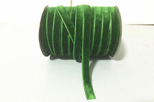 "New 5Yards 3/8"" 10mm Velvet Ribbon For Clips Crafts Sew DIY Bow Decoration Green"