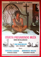 THE SEDUCTION OF MIMI '72 GIANCARLO GIANNINI MARIANGELA MELATO EXYU MOVIE POSTER