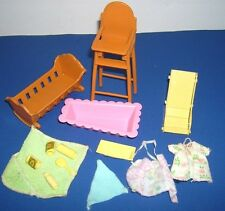 Vtg Sunshine Family Barbie baby nursery items accessories toys furniture 1970's