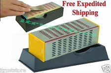 NEW DIAMOND HONE BLOCK STONE KNIFE SHARPENER WET DRY 4 SIDE