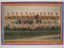 ANTIQUE 1929 CHICAGO CUBS BASEBALL PHOTO LITHO HORNSBY HoF WORLD SERIES TEAM IL