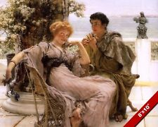 YOUNG ROMANTIC COUPLE MAN PROPOSING TO WOMAN COURTING PAINTING ART CANVAS PRINT