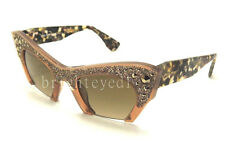 Authentic MIU MIU Light Brown Transparent Sunglasses MU 02QS - TV01X1 *NEW*