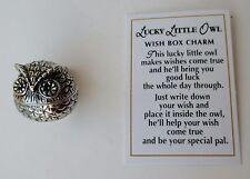 dd Lucky Little OWL Wish Box prayer POCKET TOKEN CHARM good luck trinket ganz
