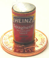 1:12 Scale Empty Spaghetti Tin Dolls House Miniature Kitchen Cans Food Accessory
