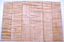 """Guitar Luthier CURLY TIGER FLAME MAPLE Head Plate Grade AAAAA Inlay Wood 1/8"""""""
