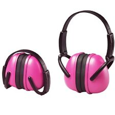 Pink Ear Muffs Hearing Protection Folding & Adjustable Work/Racing/Hunting/Shoot