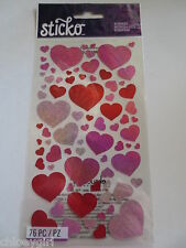 Sticko Stickers BLISSFUL HEARTS love valentine's day
